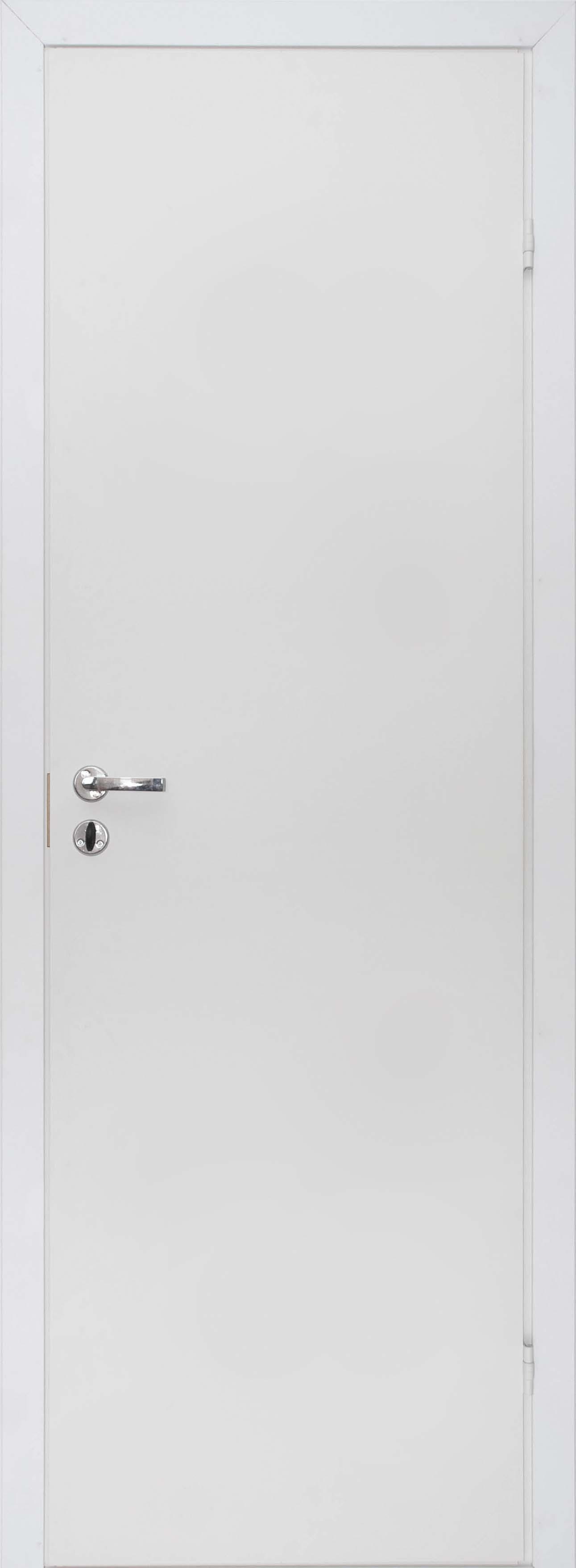 Купить со скидкой Дверное полотно ОЛОВИ М08х21 крашенное белое с замком